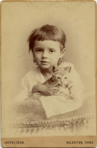 Austeene as a child in Galveston.