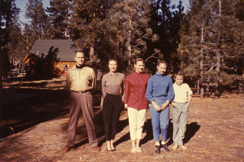 The Cooper family in Big Bear in December of 1958.