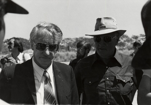 Jeff with Ian Smith, last President of Rhodesia.