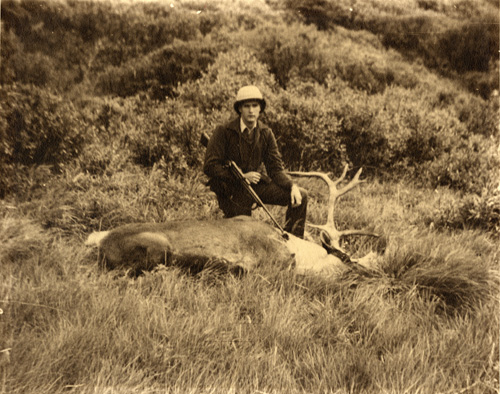 Jeff and his Canadian caribou, 1939